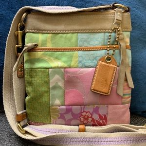 COACH cross body bag - pastel patchwork
